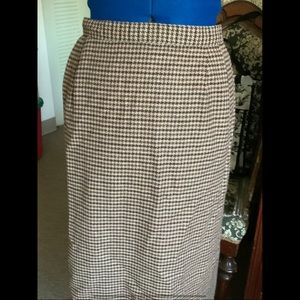 New 14 16 Long Straight Skirt Houndstooth Lined